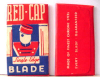 Vintage RED CAP SINGLE  EDGE Safety Razor Blade