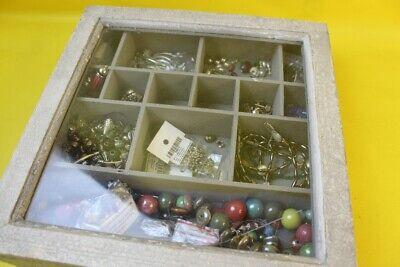 Wooden Crate with Assorted Craft Items ##KIN 68 MW