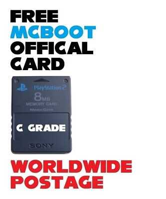 FMCB (Free Mcboot) Latest Version 1.966 / Official 8MB PS2 Memory Card *C GRADE*