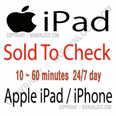 Apple iPad Check SOLD to by info check by Serial Number Checker Report Service