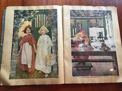 Antique Scrapbook 1890s-1913 Jessie Wilcox Smith/Cream of Wheat+  [10-10