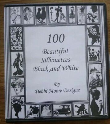 100 Beautiful Silhouettes Black And White CD Rom By Debbi Moore Designs