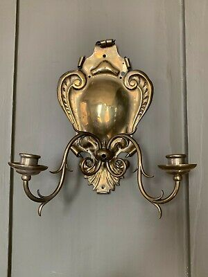 19th century arts and crafts aesthetic movement Victorian brass wall sconce
