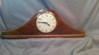 Antique New Haven Auris Self Starting Mantle Clock NOT WORKING