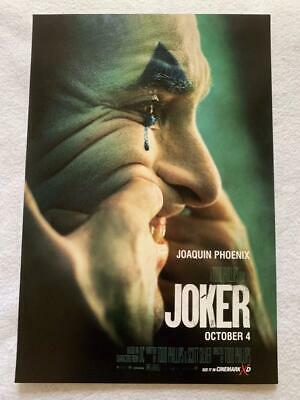 "JOKER - 11.5""x17"" Original Promo Movie Poster MINT 2019 Cinemark Joaquin Phoenix"