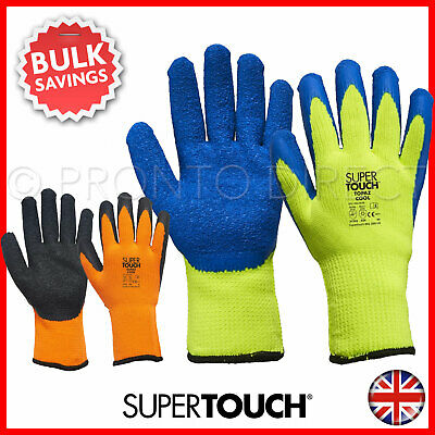 Thermal Insulated Winter Work Gloves Latex Coated Cold Safety Freezer Strong