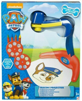 Tracing Projector(5x31x25.5)cm Projection Disk& Crayon,Trace/Color - Paw Patrol