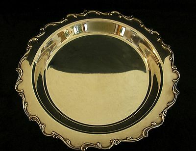 "International Silver Co. Silverplate Webster Wilcox 13.5"" footed bowl 'Joanne'"