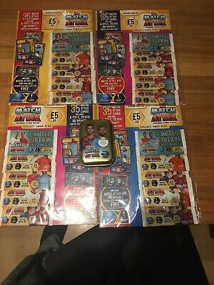 Match Attax 2019/20 Mini Tin And 4 Multipacks UEFA Champions League Multi Packs