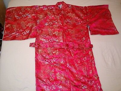 High Quality Embroidered Japanese Kimono Style Long Ethnic Gown (Retail $150)