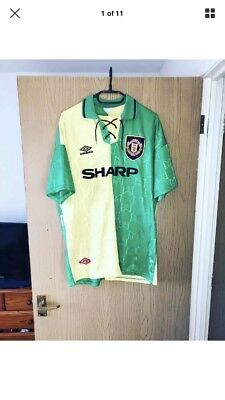 🔥Vintage Original Manchester United Football Shirt 3rd 1992-1994 - Size XL🔥
