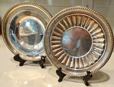 2 Antique Sterling Silver Plates for use or scrap, 8.4oz