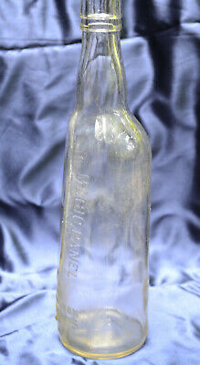 "Old Mr Boston Fine Wines Bin Bottle With Magic Panel 4/5 Qt. 11.25"" Tall"
