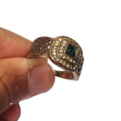 Ancient Ring African Bronze Artifact Very Old Stunning With Stone Extremely Rare