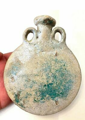 Ancient Egyptian Faience Pilgrim Flask.