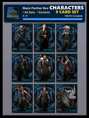 Character Art-9 Card Set-Black Panther Box-Topps Marvel Collect Digital