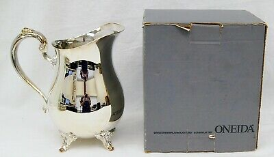 Vintage Oneida Silverplate 2 Quart Beverage Pitcher Water Tea Original Box B0280
