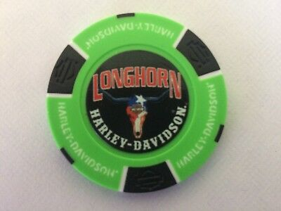 Longhorn Harley Davidson Grand Prairie Texas Collectible Poker Chip Full Color