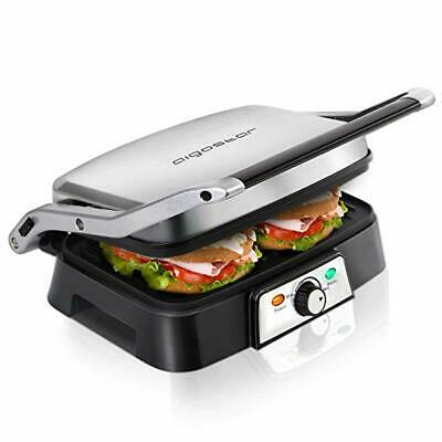 Electric Panini Press Grill Sandwich Toaster Deep Fill Health Nonstick Griddle