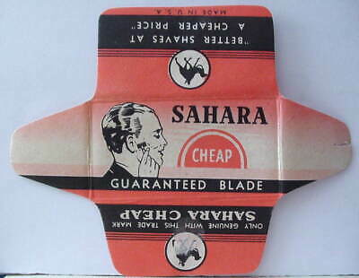 Vintage SAHARA CHEAP  DE  Safety Razor Blade