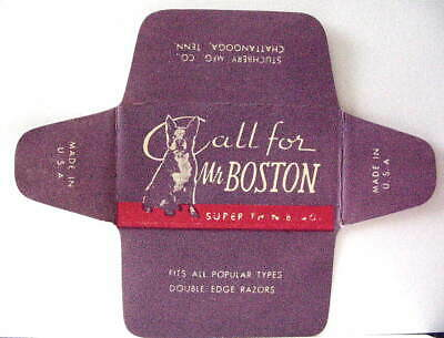 Vintage  CALL FOR MR BOSTON  DE  Safety Razor Blade