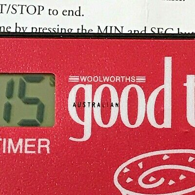 VINTAGE Woolworths Australian Good Taste Kitchen Timer Collectable in Mint Cond!