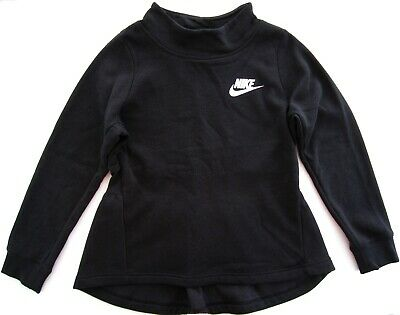 Nike Girls Large Black Long Sleeve Hi-Low with High Neck Sweatshirt MSRP: $40