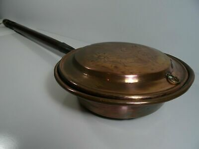Large Antique Vintage Copper Bed Warmer Warming Pan
