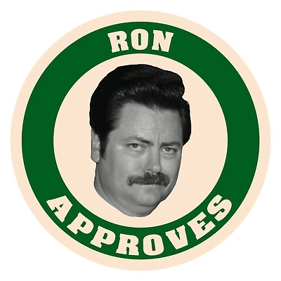 Parks and Rec Recreation Ron Swanson Approves Sticker