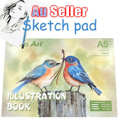 Illustration Paper Craft A5 Book Pad 100gsm Sketch Painting Art Drawing Atrist