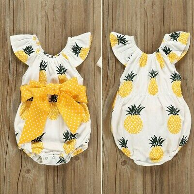 Toddler Newborn Baby Girl Floral Ruffle Romper Bodysuit Jumpsuit Outfit Clothing