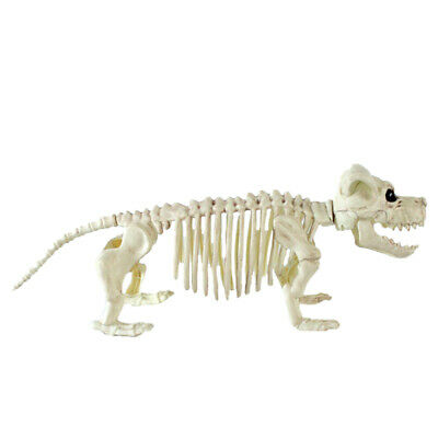 1PC Halloween Decor Prop Simulation Plastic Dog Skeleton Prop Ornament for Party
