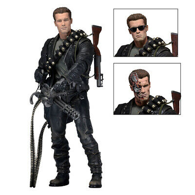 "Terminator 2 Judgment Day T-800 Ultimate Deluxe Arnold 7"" Action Figure Toy"