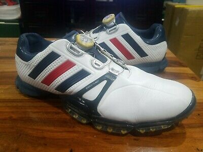 Adidas Mens Golf Shoes PowerBand Boa Boost White+Red American Flag 10.5 M ⛳