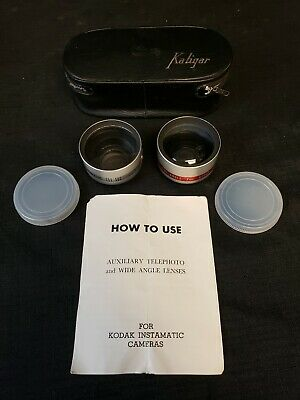 Kalimar Kaligar Lens Set Telephoto Wide Angle Kodak Instamatic No View Finder