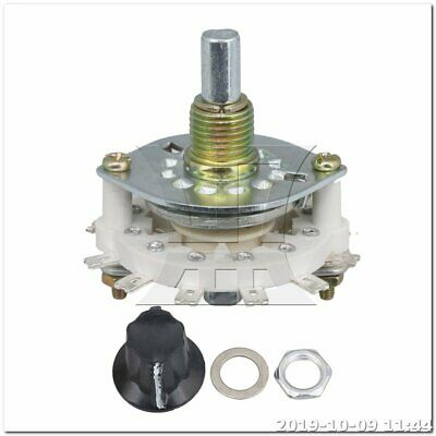 Selector Rotary Switch Middle 1 Deck 2 Poles 5 Positions