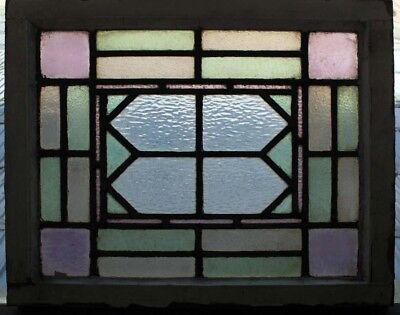 Original Arts & Crafts Antique English Stained Glass Window Free Uk Post
