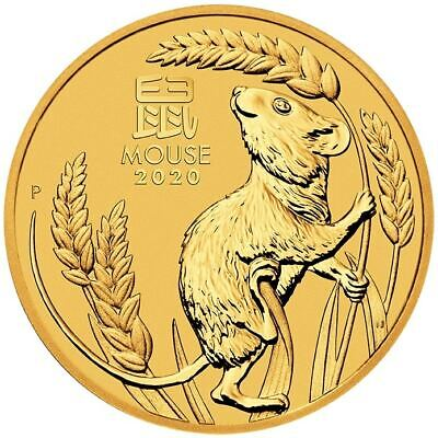 2020 Year of the Mouse 1/20oz .9999 Gold Bullion Coin - Lunar Series III - PM