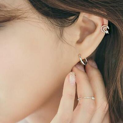 3Pairs Korean Style Simple Ear Hoops 2019 Hot Sale Women Earrings DS