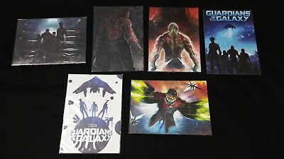 Lot of 6 Guardians of the Galaxy Oversize Box Topper Trading cards