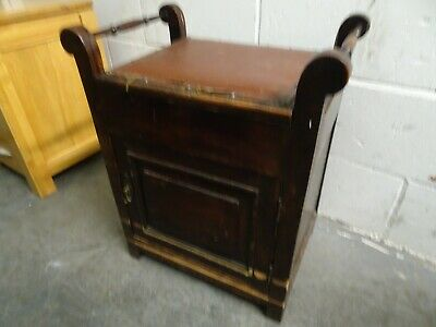 Antique Mahogany Piano Stool, with Storage Cupboard