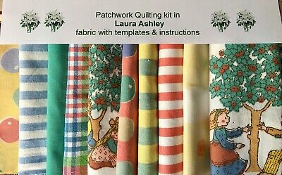 Laura Ashley Fabric 'Mulberry' Patchwork Quilting Kit+Instructions -Size Choice