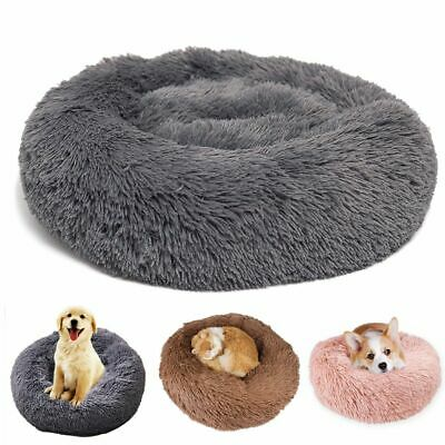 NEW Pet Dog Cat Calming Bed Round Nest Warm Soft Plush Sleeping Bag Comfy Flufy