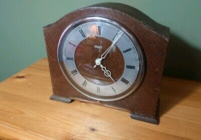 Vintage Smiths 8 Day Classic Wooden Mantel Clock Restoration Project