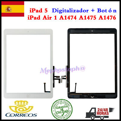 Pantalla Para iPad 5 / iPad Air A1474 A1475 Tactil Digitalizador + Botón Blanco