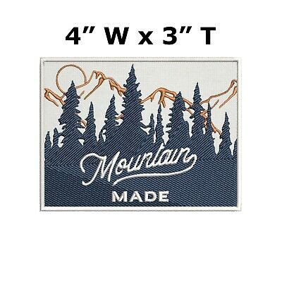 Mountain Made Embroidered Iron-On / Sew-On Patch Vacation Souvenir Explore More