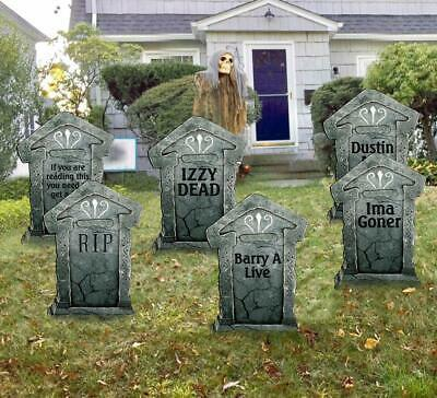 """Halloween Decorations 21"""" Yard Sign Outdoor Lawn Fake Graveyard Tombstone"""