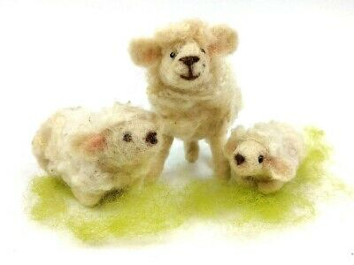 Needle Felting Kit by The Makerss - Sheep and Lambs