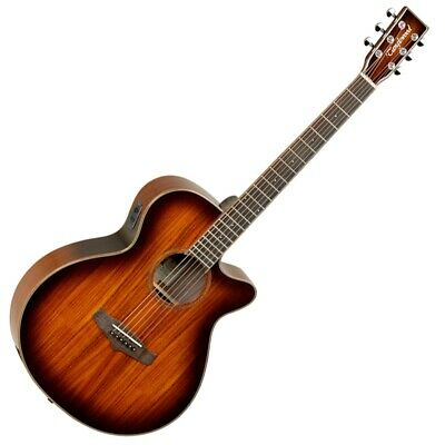 TW4-KOA Winterleaf Super Folk Solid Electro Acoustic Guitar - Autumn Burst