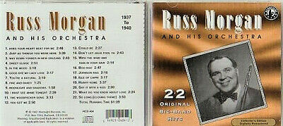 CD - RUSS MORGAN AND HIS ORCHESTRA - SAY IT WITH A KISS - ISLE OF CAPRI etc.